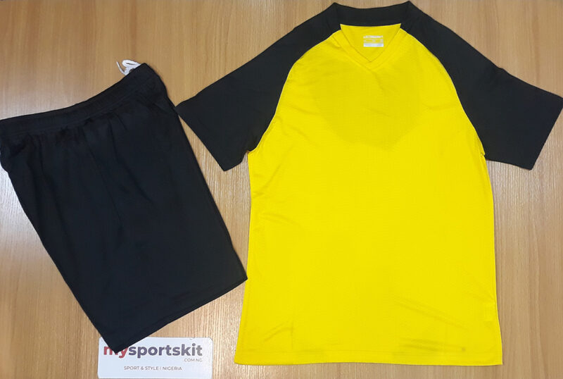 Liconsavy Breathable Sports Team Jerseys Yellow and Black