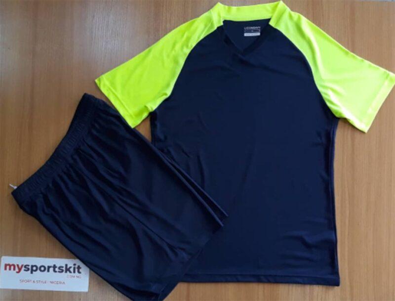 Liconsavy Breathable Sports Team Jerseys Navy blue and lemon