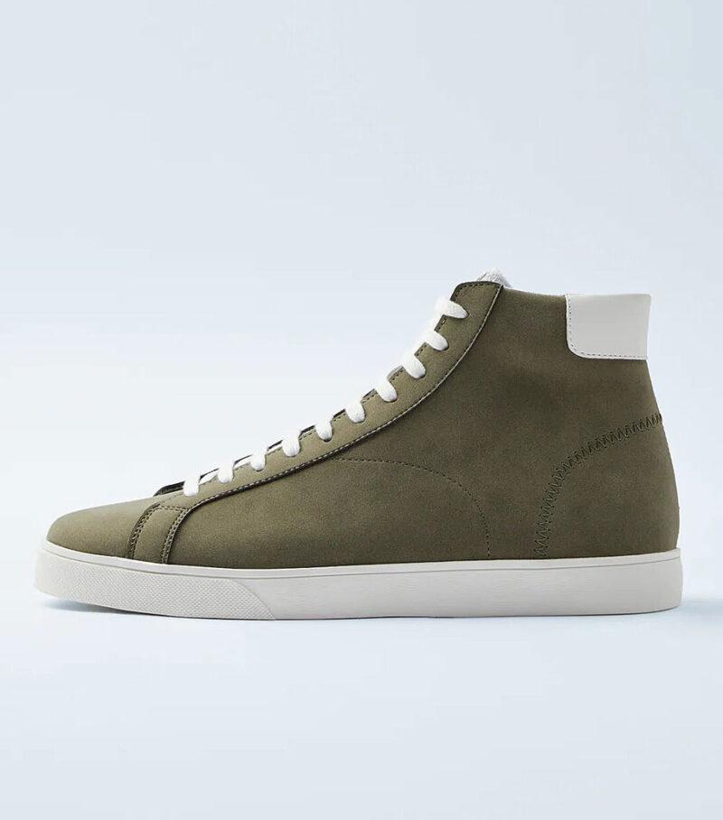 Zara Khaki High Top Sneakers