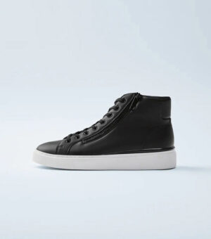 ZARA BLACK HIGH-TOP SNEAKERS WITH ZIP