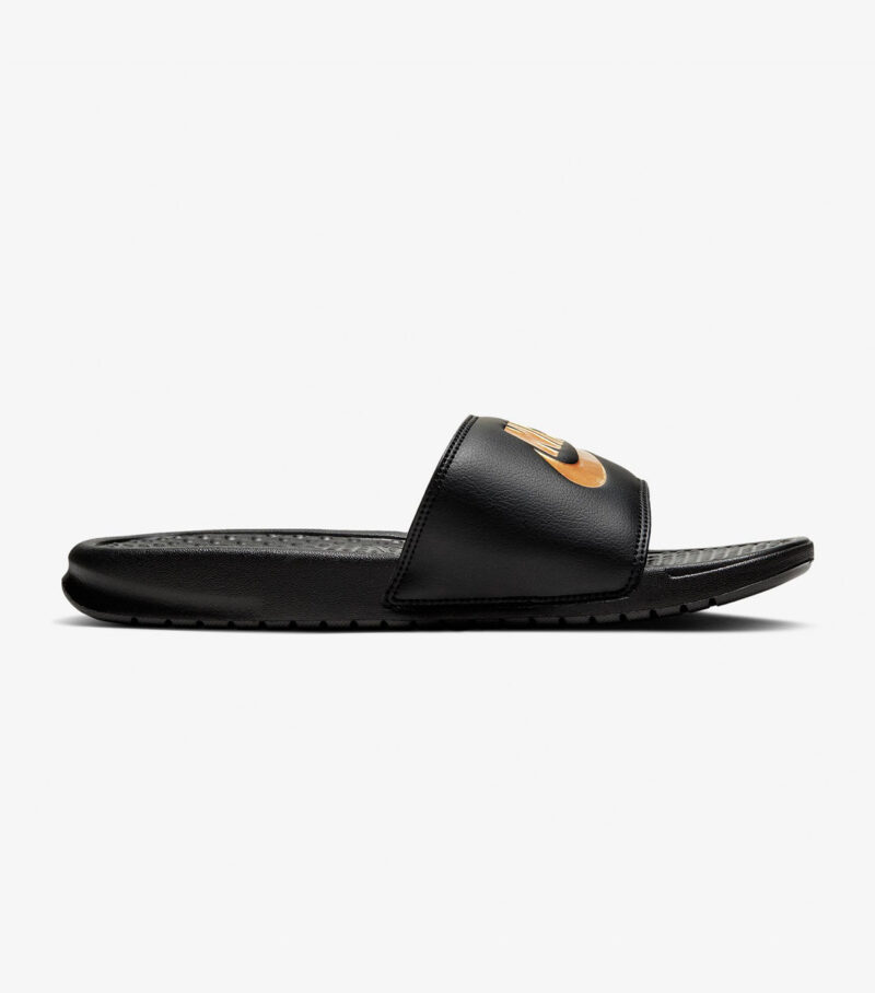 Nike Benassi JDI Black Gold Slide Side