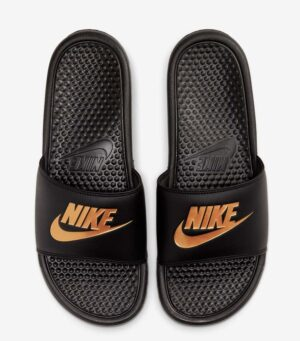 Nike Benassi JDI Black Gold Slide