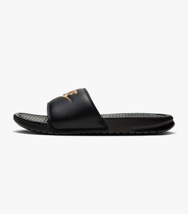 Nike Benassi JDI Black Gold Slide left
