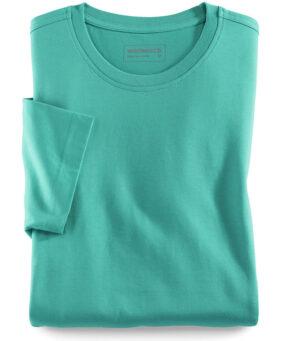Walbusch Round neck T-shirt (lagoon)