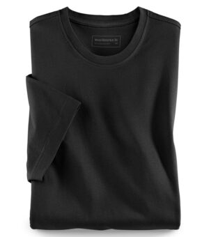 Walbusch Round neck T-shirt (Black)