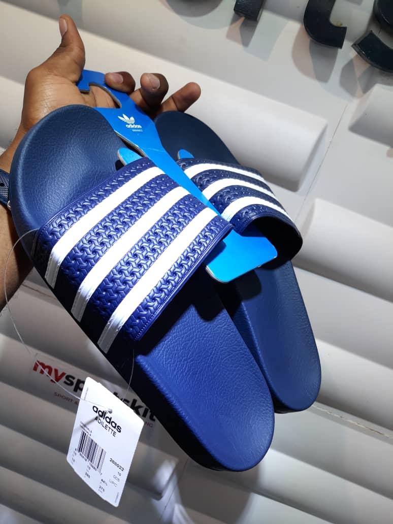 Adidas Originals Adilette Slide Blue Real