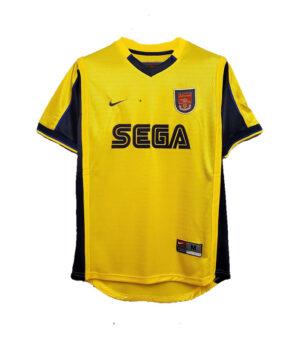 Arsenal 1999/2000 Away Yellow Sega Jersey