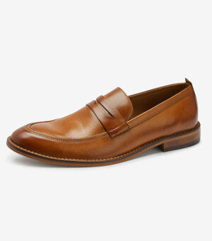 Next Leather Brown Loafers