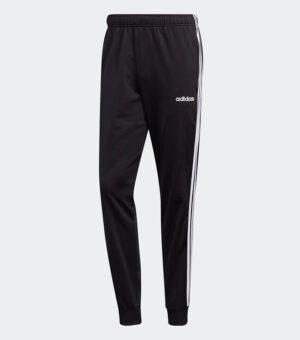 Adidas Essentials 3-Stripes Tapered Tricot Pants - Black