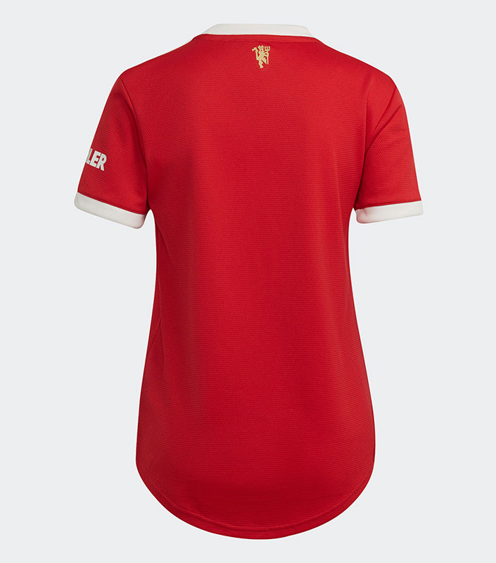 Manchester United FC 21/22 Home Female Jersey Back